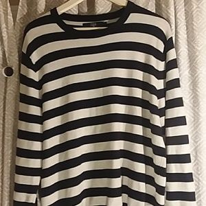 Striped J Crew Crewneck sweater